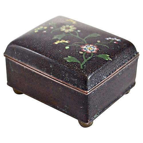 1920s Cloisonné Copper Box