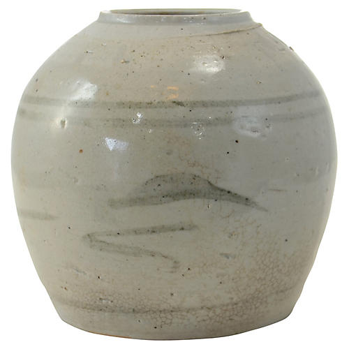 Antique Chinese Primitive Gray Jar