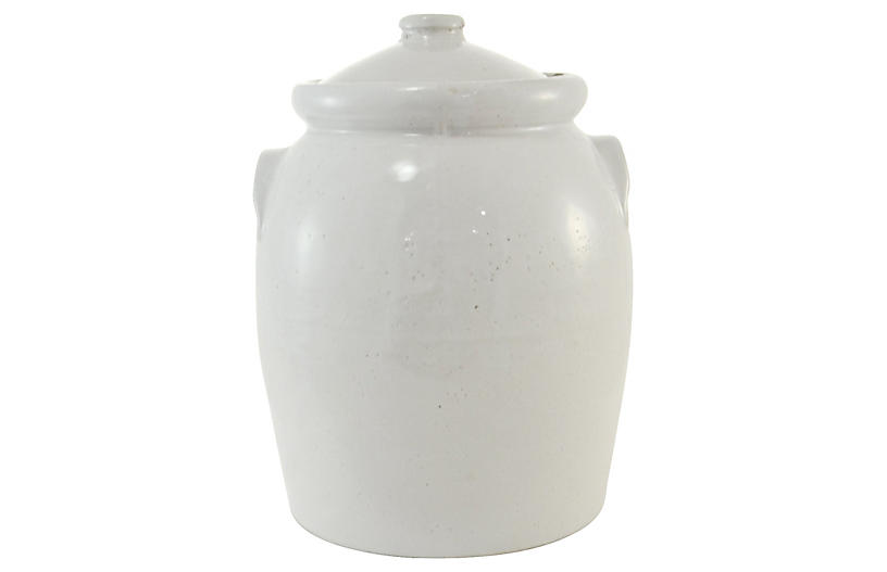 Rustic Dove Gray Pottery Urn