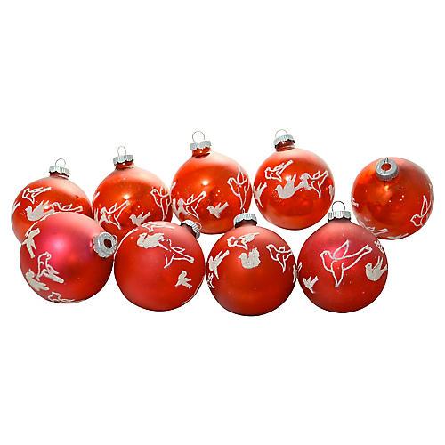 Shiny Brite Stencil Ornaments, S/9