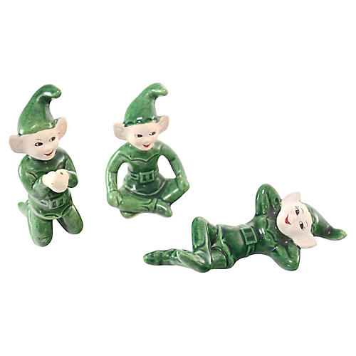 1960s Green Pixie Elves, S/3