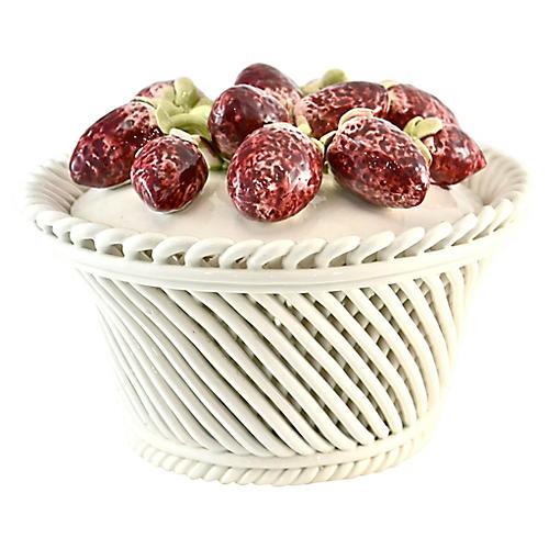 Italian Ceramic Strawberry Basket Box