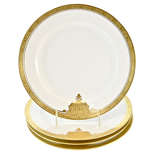 Gold-Encrusted Bavarian Plates, S/4