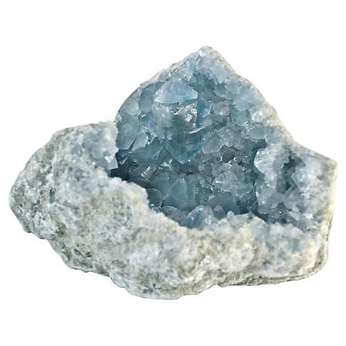 Blue Celestite Crystal Geode