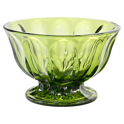 Green Petal Panel Bowl