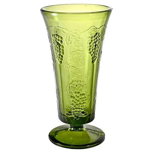 Green Trumpet Vase