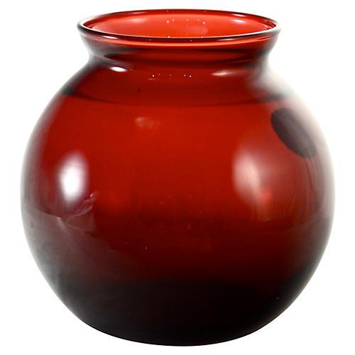 Royal Ruby Red Ball Vase