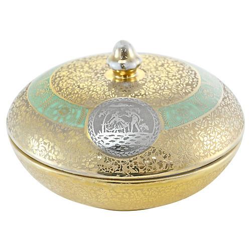 Hand Decorated Gold & Platinum Box