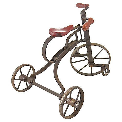 Rustic Red Miniature Tricycle