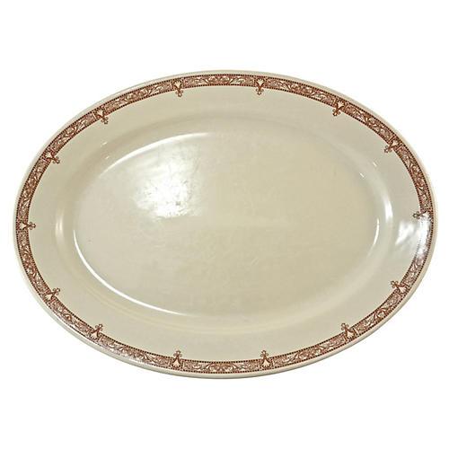 """Chestnut Floral Border 15"""" Platter"""