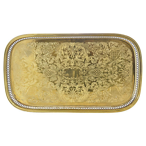 Chased Brass Tray