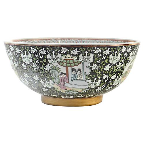 Chinese Noir Centerpiece Bowl