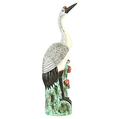 Chinese Crane Sculpture