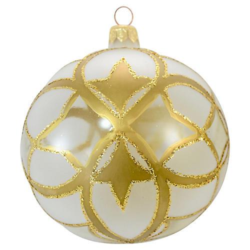 Polish Hand Decorated Glass Ornament