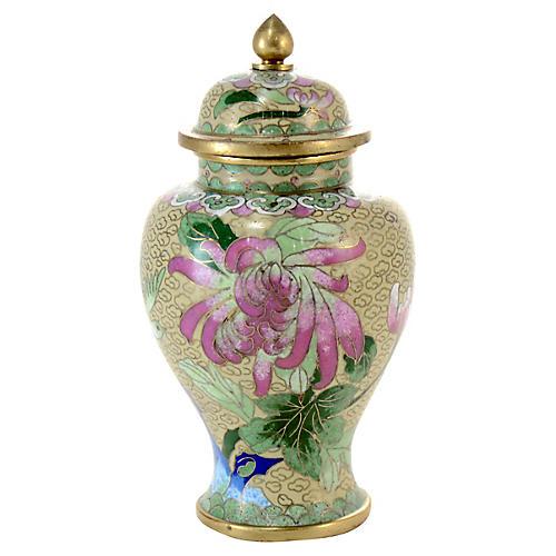 Ivory Chinese Cloisonne Jar