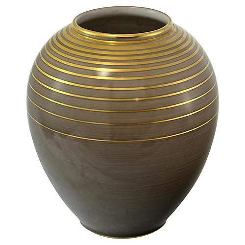 German Gold Band Metallic Glaze Jar