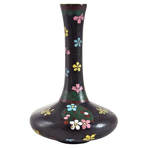 1900s Japanese Copper Cloisonné Vase