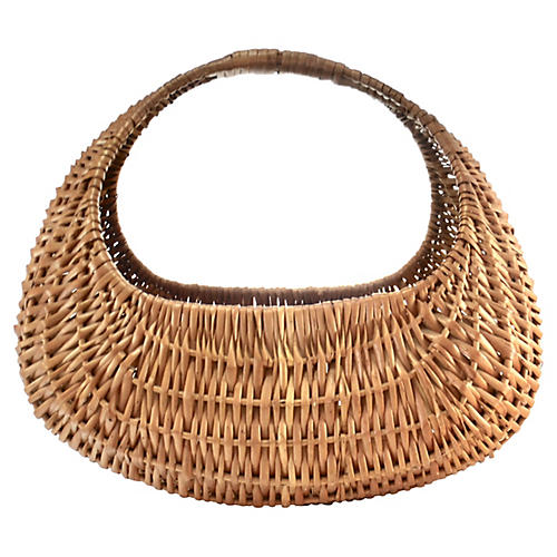 "Handwoven 15"" Oval Reed Basket"
