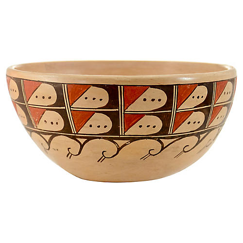Native American Pottery Wave Bowl
