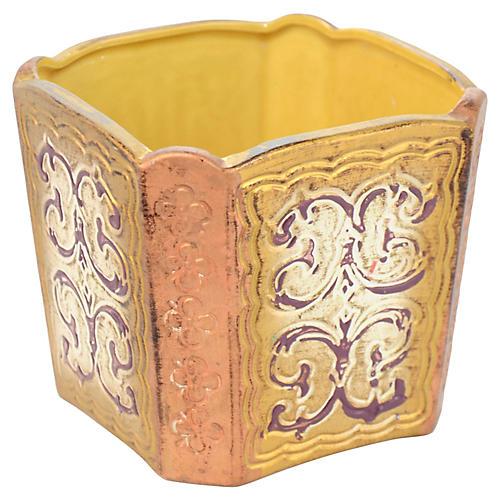 Golden Florentine Ceramic Catchall