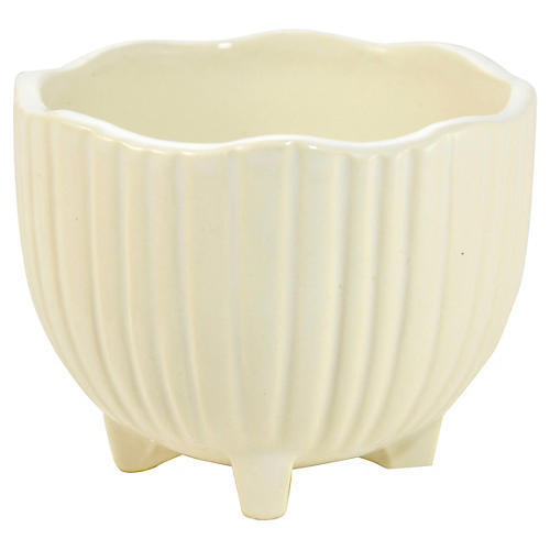 McCoy Ivory Footed Pot