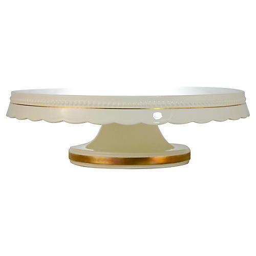 White & Gold Cake Stand