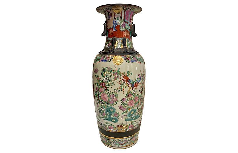 Chinoiserie Famille Rose Vase