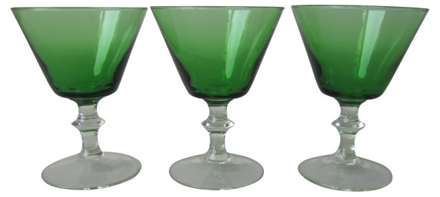 Emerald Green Cordials, S/3