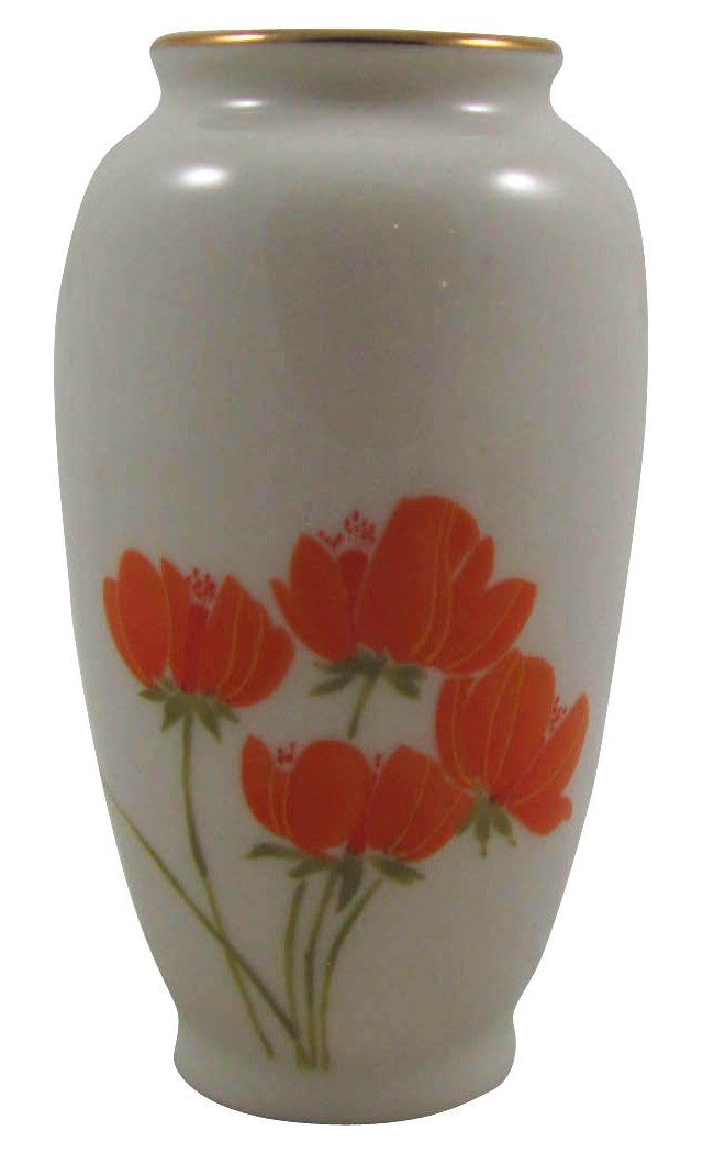 Orange Poppy Bud Vase