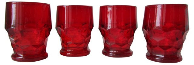 Glass   Tumblers, S/4