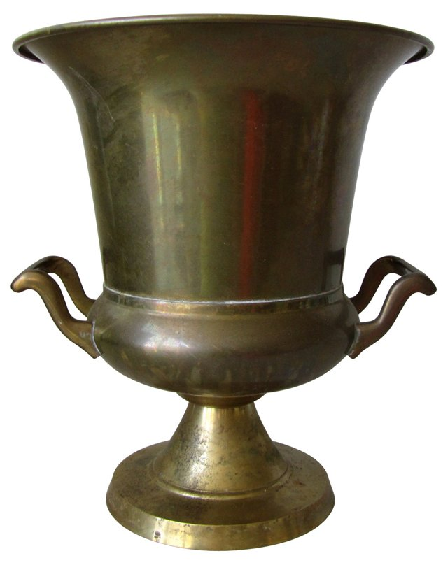 Brass Double Handled Urn