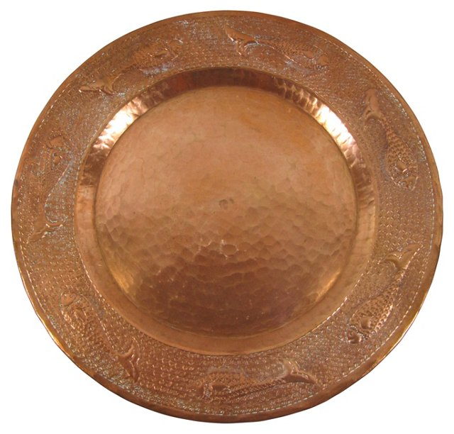 Decorative Hammered  Copper Tray