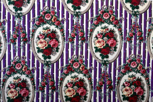 Late-19th-C. French Floral Textile