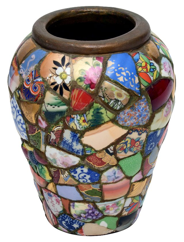 1920s Shard Pottery Vase
