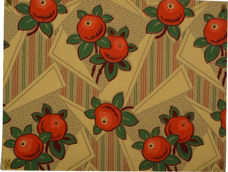 1920s Art Deco Fruit Wallpaper Sample