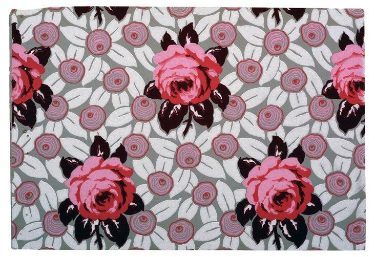 1920s Roses Wallpaper Sample