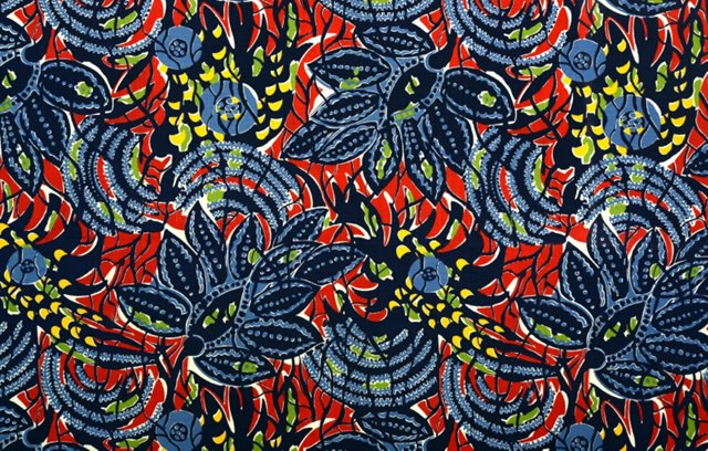 1940s Tropical Fabric, 1 Yd