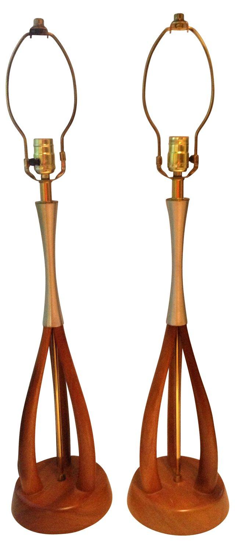 Danish Modern-Style Lamps,  Pair