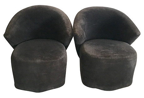 Swivel Chairs by Directional, Pair