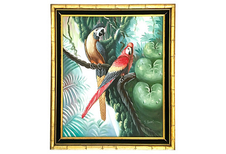 Macaw Oil Painting by S. Blake