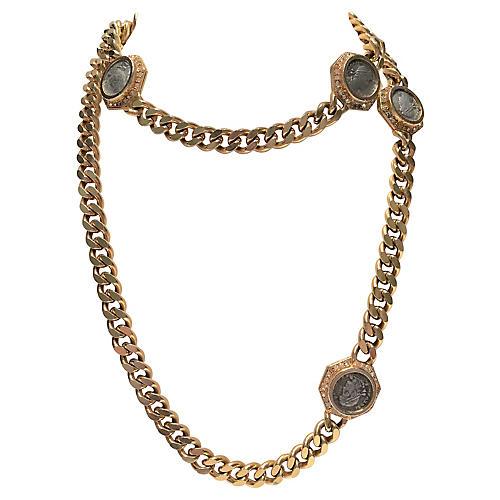 Ciner Roman Coin Gold Necklace