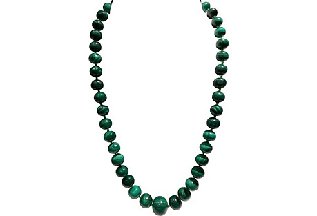 Malachite & Sterling Bead Necklace