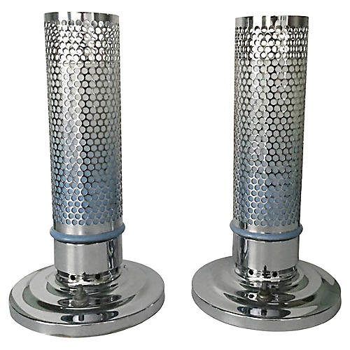 Bullet Table Lamps, Pair