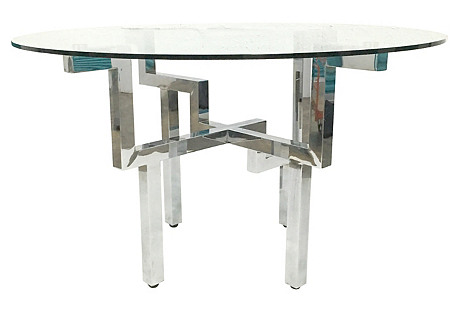 Baughman-Style Cityscape Dining Table