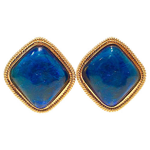 KJL Electric Blue Earrings