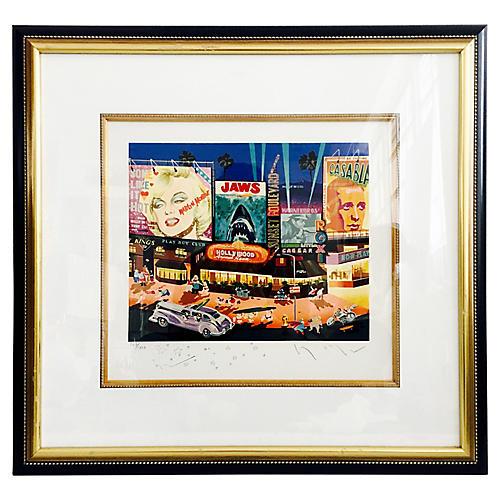 Hiro Yamagata Los Angeles Serigraph