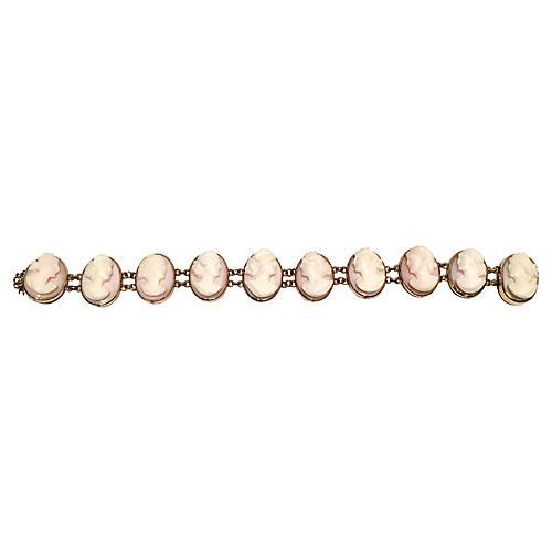 19th-C. 12K Gold Cameo Bracelet