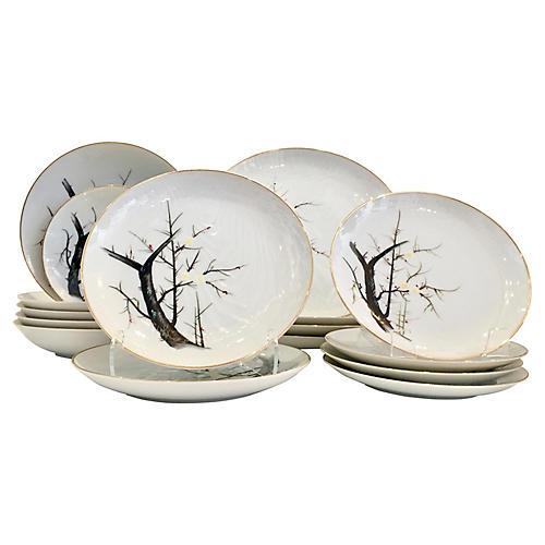 Japanese Porcelain Dinnerware, S/17