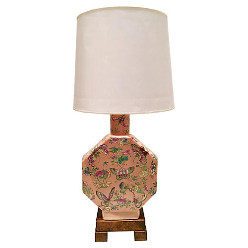 Vintage Famille Butterfly Lamp