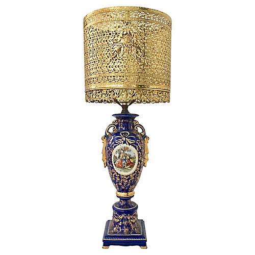Antique Sèvres-Style Lamp